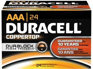 DURACELL CopperTop MN2400 1150mAh 1.5V AAA Alkaline Battery, 24 Count
