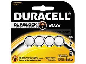 DURACELL Duralock 3V 2032 (DL2032 / CR2032) Lithium Coin Cell Battery, 4-pack