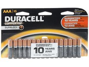 DURACELL Coppertop 1.5V AAA Alkaline Battery, 16-pack