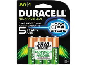 DURACELL NiMH 1.5V 2400mAh AA Rechargeable Battery, 4-pack