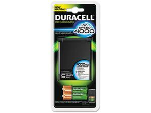Duracell 80232631 Duracell ION SPEED 4000 Hi-Performance Charger, Includes 2 AA and 2 AAA NiMH Batteries