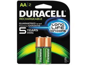 DURACELL NiMH 1.2V AA Rechargeable Battery, 2-pack