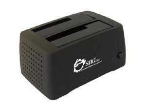 "SIIG SC-SA0412-S1 2.5"" & 3.5"" Black SATA I/II USB 2.0 Dual Bay external docking station"