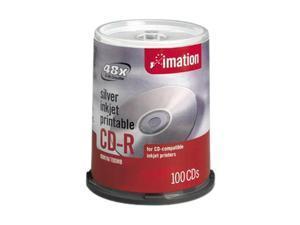 imation 700MB 52X CD-R Inkjet Printable 100 Packs Media Model 17335