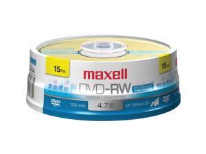 maxell 4.7GB 2X DVD-RW 15 Packs Disc Model 635117