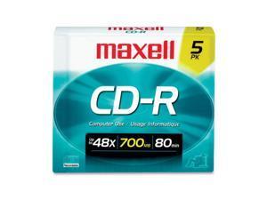 maxell 700MB 48X CD-R 5 Packs Media Model 648205