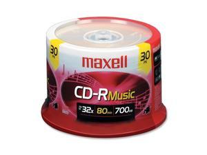 maxell 700MB 32X CD-R 30 Packs 32x CD-R Digital Audio Media Model 625335