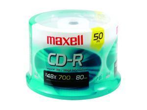 maxell 700MB 48X CD-R 50 Packs CD-R Media Model 623251/648250