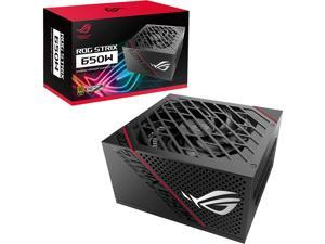 ASUS ROG Strix 650 Full Modular 80 Plus Gold 650W ATX Power Supply with 0dB Axial Tech Fan and 10 Year Warranty