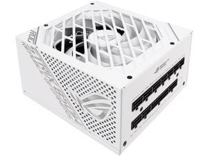 ASUS ROG STRIX 850G 850W White Edition Power Supply, ROG Heatsinks, Axial-tech Fan Design, Dual Ball Fan Bearings, 0dB Technology, 80 PLUS Gold Certification, Fully Modular Cables, 10-year Warranty