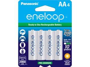Panasonic Eneloop AA 2000mAh 2100 Cycle Ni-MH Pre-Charged Rechargeable Batteries 4 Pack