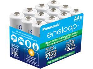Panasonic Eneloop AA 2000mAh 2100 Cycle Ni-MH Rechargeable Batteries 12 Pack