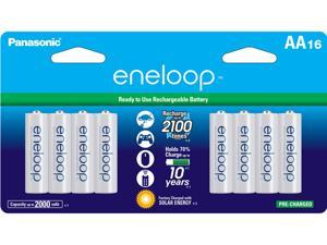 Panasonic Eneloop AA 2000mAh 2100 Cycle Ni-MH Pre-Charged Rechargeable Batteries 16-Pack