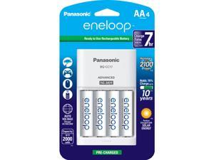 Panasonic K-KJ17MCA4BA Advanced Individual Cell Battery Charger Pack with 4AA eneloop 2100 Cycle Rechargeable Batteries (4 pack)