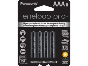 8-Pack Panasonic Eneloop Pro AAA Ni-MH 950mAh Pre-Charged Rechargeable Batteries BK-4HCCA