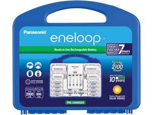Panasonic Eneloop Power Pack with 8 AA, 2 AAA, 2 C Spacers, 2 D Spacers, Advanced Individual Battery Charger