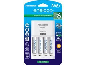 Panasonic eneloop 4-position Charger & 4 AAA Rechargeable Batteries