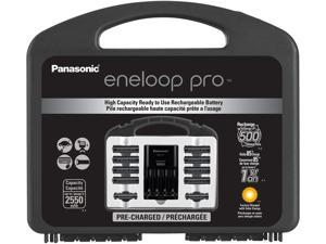 "Panasonic eneloop pro Power Pack, 500 cycle, 8 AA, 2 AAA and ""Advanced"" Individual Battery Charger"