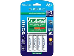 """Advanced"" Individual Battery 3 Hour Quick Charger with 4 AA eneloop Rechargeable Batteries"