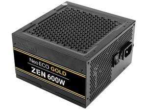 Antec NeoECO Gold Zen NE600G Zen Power Supply 600W, 80 PLUS GOLD Certified with 120mm Silent Fan, LLC + DC to DC Design, Japanese Caps, CircuitShield Protection, 5-Year Warranty