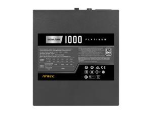 Antec Signature Series SP1000, 80 PLUS Platinum Certified, 1000W Full Modular with OC Link Feature, PhaseWave Design, Full Top-Grade Japanese Caps, Zero RPM Mode, 135 mm FDB Silence & 10-Year Warranty