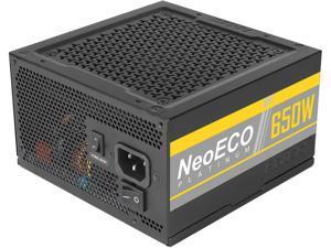Antec NeoECO Platinum NE650 Platinum Power Supply 650W, 80 PLUS Platinum Certified with 7-Year Warranty, 120mm Silent Fan, LLC + DC to DC Design, Japanese Caps, CircuitShield Protection & Zero RPM