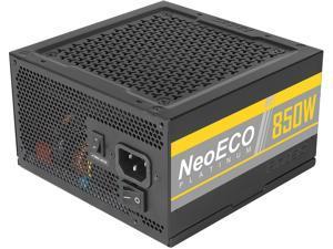 Antec NeoECO Platinum NE850 Platinum Power Supply 850W, 80 PLUS Platinum Certified with 7-Year Warranty, 120mm Silent Fan, LLC + DC to DC Design, Japanese Caps, CircuitShield Protection & Zero RPM