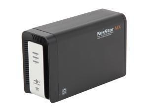"""Vantec NexStar MX Dual 3.5"""" SATA to USB 2.0 & eSATA External Hard Drive Enclosure with JBOD/RAID 0/1 - Model NST-400MX-SR"""