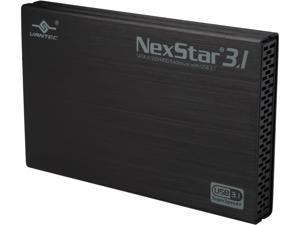 "VANTEC NST-270A31-BK 2.5"" Black Standard SATA Micro B 2.5"" SATA 6 Gb/s to USB 3.1 Gen II Type-A SSD/HDD Enclosure"