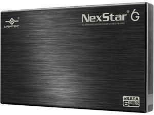 """VANTEC NST-266SU3-BK 2.5"""" Black SATA I/II/III USB 3.0 2.5"""" SATA 6Gb/s to USB 3.0/eSATA HDD Enclosure"""