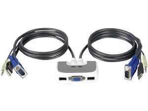 IOGEAR GCS632UW6 MiniView Micro USB PLUS 2-Port KVM Switch