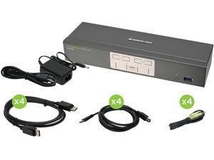 IOGEAR GCS1904 4-Port DisplayPort KVMP Switch with USB 3.0 Hub (TAA Compliant)