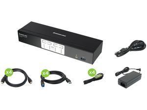 IOGEAR GCS1934H 4-Port 4K KVMP Switch with HDMI Connection, USB 3.0 Hub, and Audio (TAA)