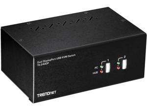 TRENDnet TK-240DP 2-Port Dual Monitor DisplayPort KVM Switch