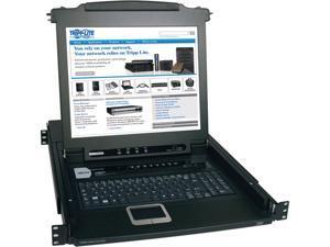 Tripp Lite 8-Port Rackmount Console KVM Switch Steel with 17-Inch LCD Screen, Touchpad & Keyboard 1URM (B020-008-17)