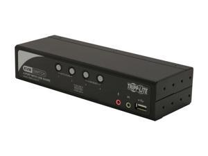 TRIPP LITE B006-VUA4-K-R 4-Port KVM Switch with Audio, OSD and Peripheral Sharing