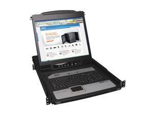 """TRIPP LITE B020-U08-19-IP 8-Port Rack Console KVM Switch w/ 19"""" LCD Built-in IP"""