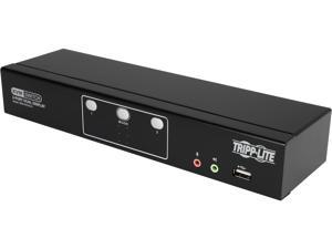 TRIPP LITE B004-2DUA2-K 2-Port Dual Monitor DVI KVM Switch with Audio and USB 2.0 Hub, Cables included