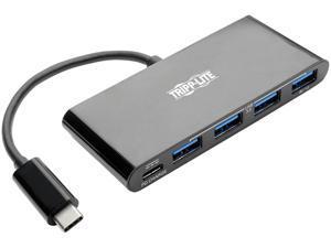 Tripp Lite 4-Port USB 3.1 Hub, 4x USB-A, Thunderbolt 3—PD Charging, Black (U460-004-4AB-C)