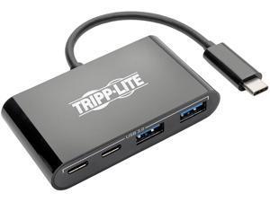 Tripp Lite USB 3.1 Gen 1 USB-C Portable Hub with 2 USB-C Ports and 2 USB-A Ports, Thunderbolt 3 Compatible, Black (U460-004-2A2CB)