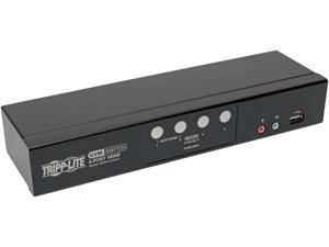 Tripp Lite 4-Port HDMI/USB KVM Switch with Audio/Video and USB Peripheral Sharing