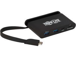 Tripp Lite U460-T04-2A2C-1 USB 3.1 Gen 1 USB-C Hub, 5 Gbps - 2 USB-C & 2 USB-A, Thunderbolt 3 Compatible, Portable, Black