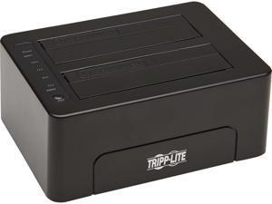 "Tripp Lite U339-E02 2.5"" & 3.5"" Black SATA I/II/III USB 3.0 2-Bay Hard Drive Docking Station with Erase Function, HDD and SSD"