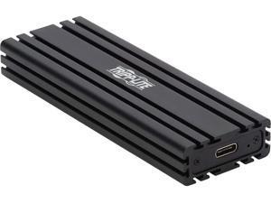 Tripp Lite U457-1M2-NVMEG2 M.2 Black M.2 NVMEM-Key USB Type C Enclosure Adapter - USB 3.1 Gen 2 (10 Gbps), Thunderbolt 3, UASP
