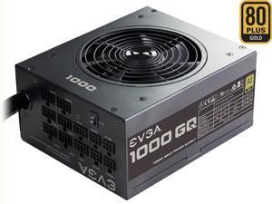 EVGA 1000GQ 210-GQ-1000-V1 GQ 80 Plus Gold, 1000W ECO Mode Semi Modular Power Supply