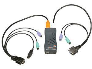 Lantronix SLSLP400PS2-01 SecureLinx SpiderDuo KVM Switch