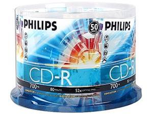PHILIPS 700MB 52X CD-R Logo 50 Packs Spindle Disc Model D52N600