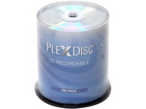 PlexDisc 700MB 52X CD-R Shiny Silver Top 100 Packs Spindle Disc Model 631-105-BX