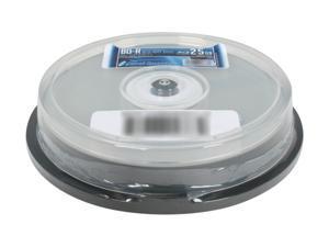 Optical Quantum 25 GB 6X BD-R Blu-ray Recordable Media 10 Packs Logo Top Disc