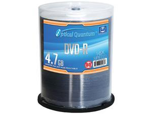 Optical Quantum 4.7GB 16X DVD-R White Inkjet Hub Printable 100 Packs Disc Model OQBQDMR16WIP